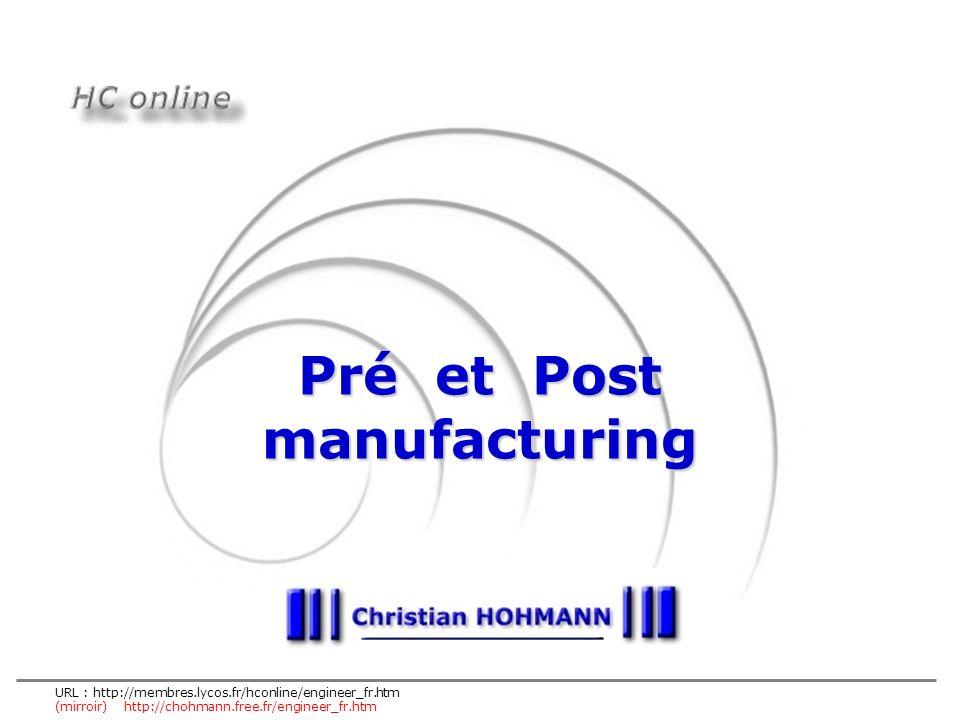 URL : http://membres.lycos.fr/hconline/engineer_fr.htm (mirroir) http://chohmann.free.fr/engineer_fr.htm Pré et Post manufacturing