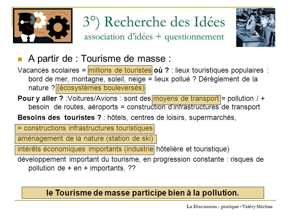 La Discussion : pratique - Valéry Michau A partir de : Catastrophes écologiques : Tchernobyl, marées noires = exemples, liés à .