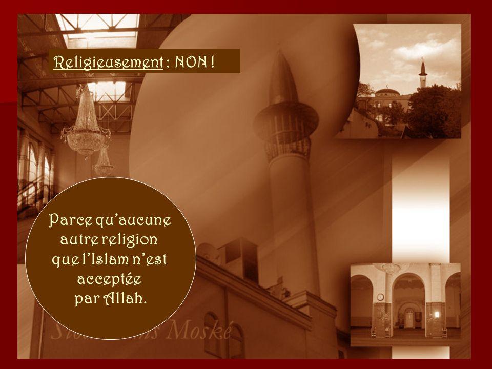 Théologiquement : NON ! Parce que son allégeance est à Allah, le dieu de lIslam.