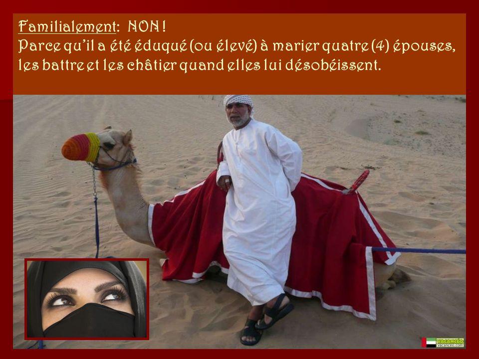 Politiquement : NON ! Parce quil doit se soumettre à mollah (son chef spirituel), qui lui enseigne lannihilation de l'infidèle, dIsraël et la destruct