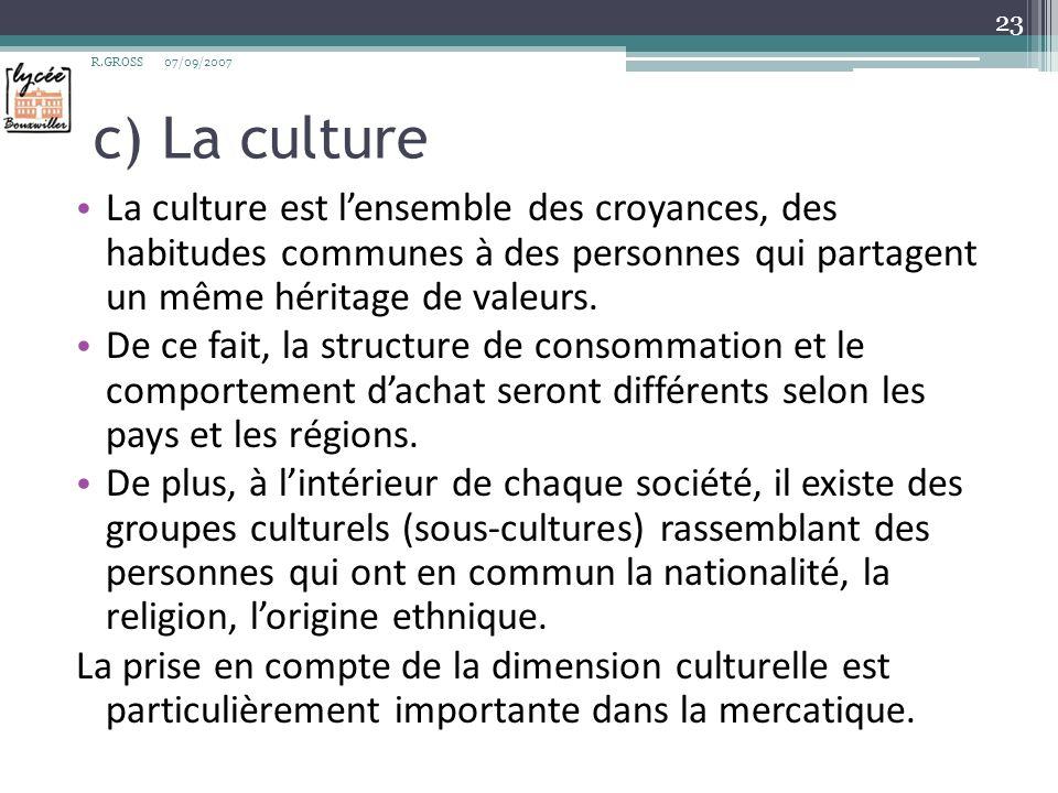 d) Les classes sociales Les classes sociales sont les principales catégories de classification dune société.