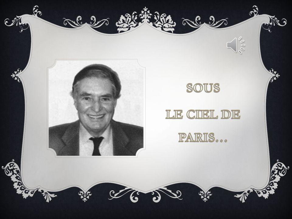 POESIE… SOUS LE CIEL DE PARIS…