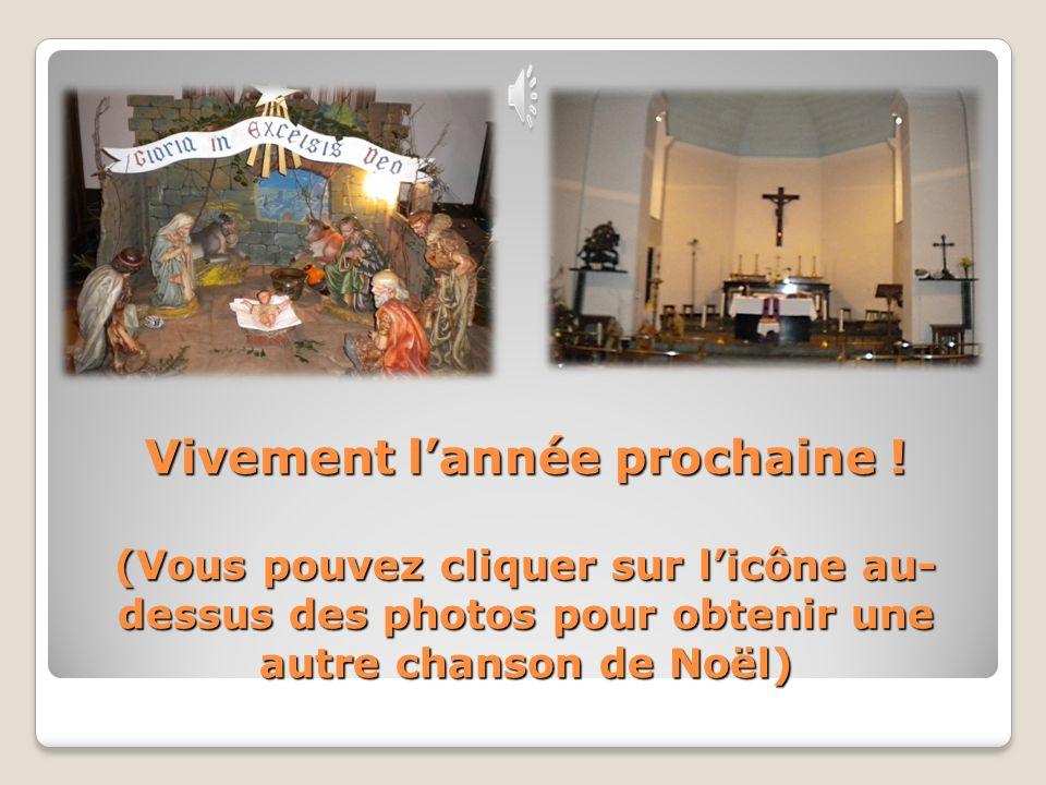 Après la célébration… Une église prête pour Noël !