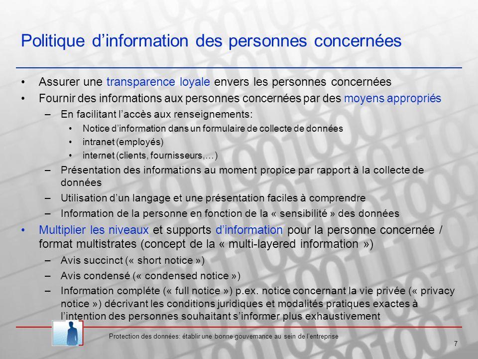 Protection des données: établir une bonne gouvernance au sein de lentreprise 18 Commission Nationale pour la Protection des Données MM.