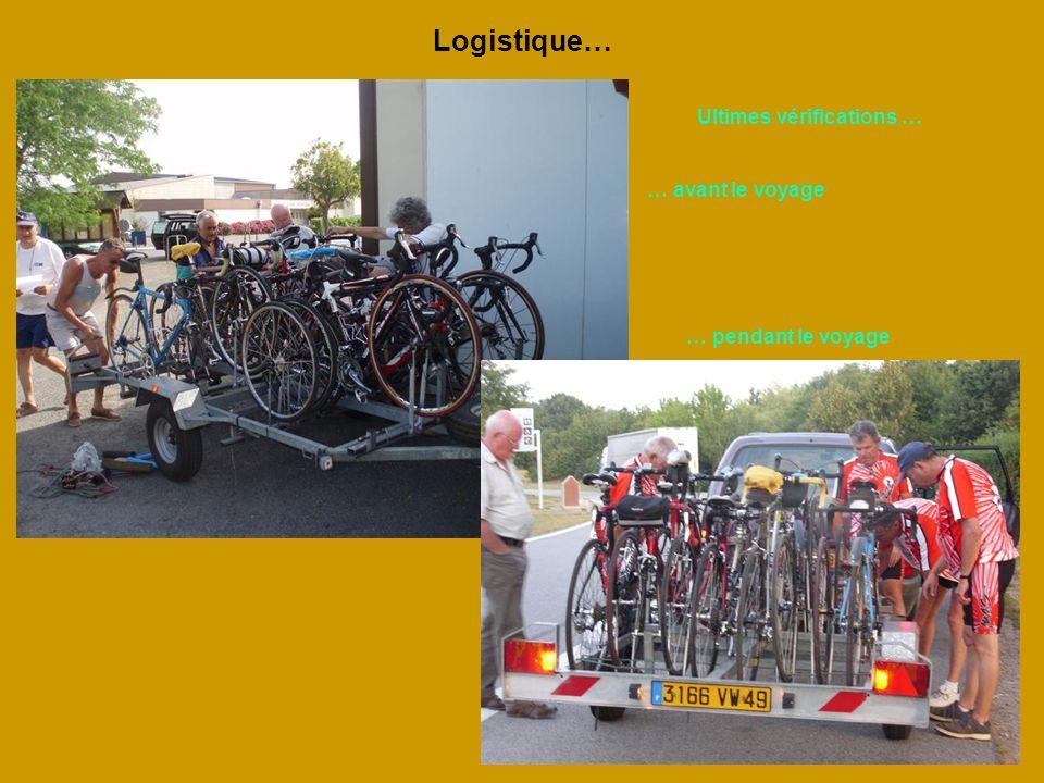 Logistique… Ultimes vérifications … … avant le voyage … pendant le voyage