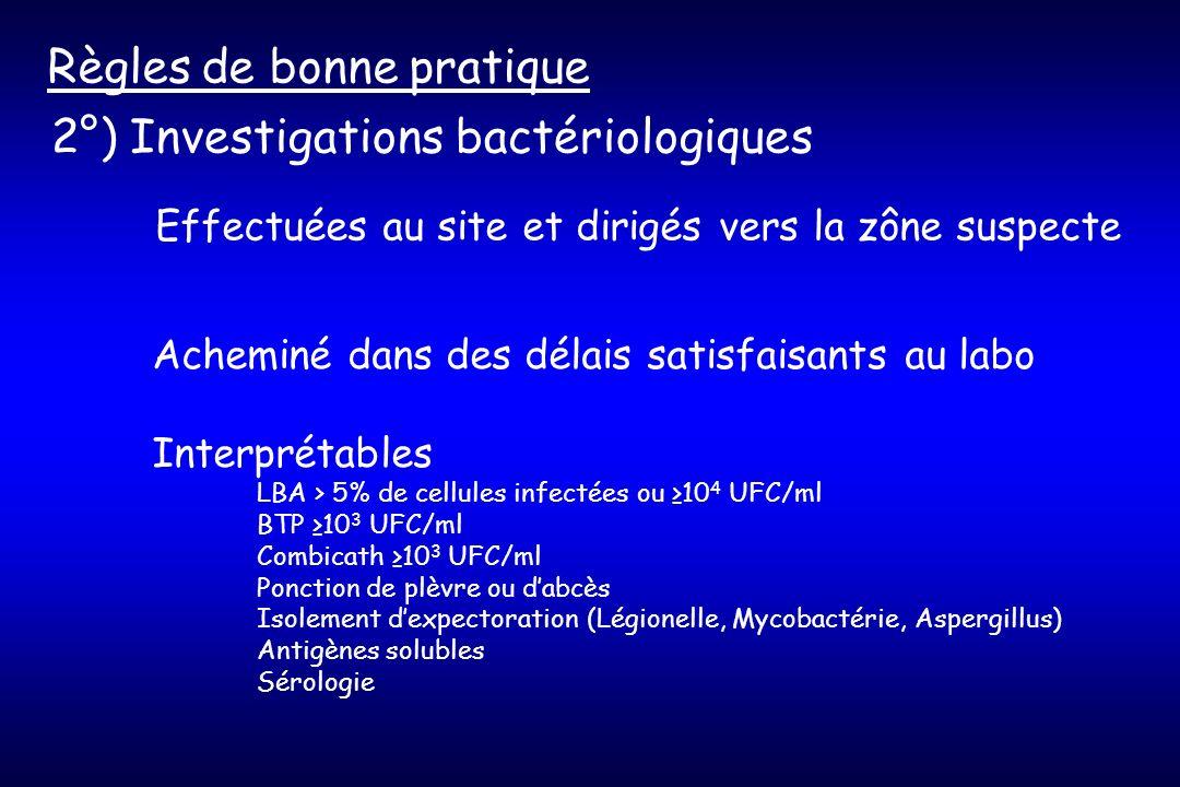 3°) Certaines infections ne justifient pas (ou rarement) un traitement Règles de bonne pratique - Abcès de paroi - Infections superficielles du site opératoire - Veinites et lymphangites - Bactériémies à BGN sur cathéter de résolution rapide - Infections asymptomatiques