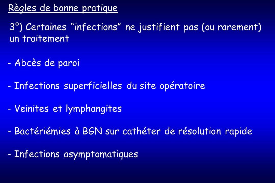4°) Réévaluer lantibiothérapie au vu de lexamen direct puis de lantibiogramme Règles de bonne pratique