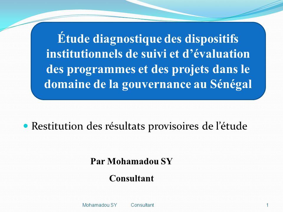 2 Plan de la présentation 1.Introduction 2.Mandat du consultant 3.Démarche méthodologique 4.Principaux résultats 5.Recommandations 6.Conclusion