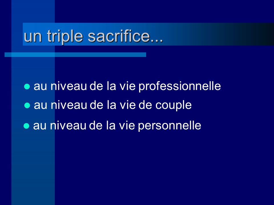 un triple sacrifice...