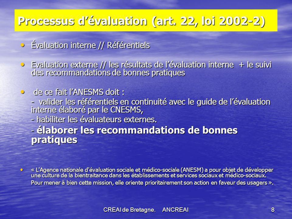 CREAI de Bretagne.ANCREAI8 Processus dévaluation (art.