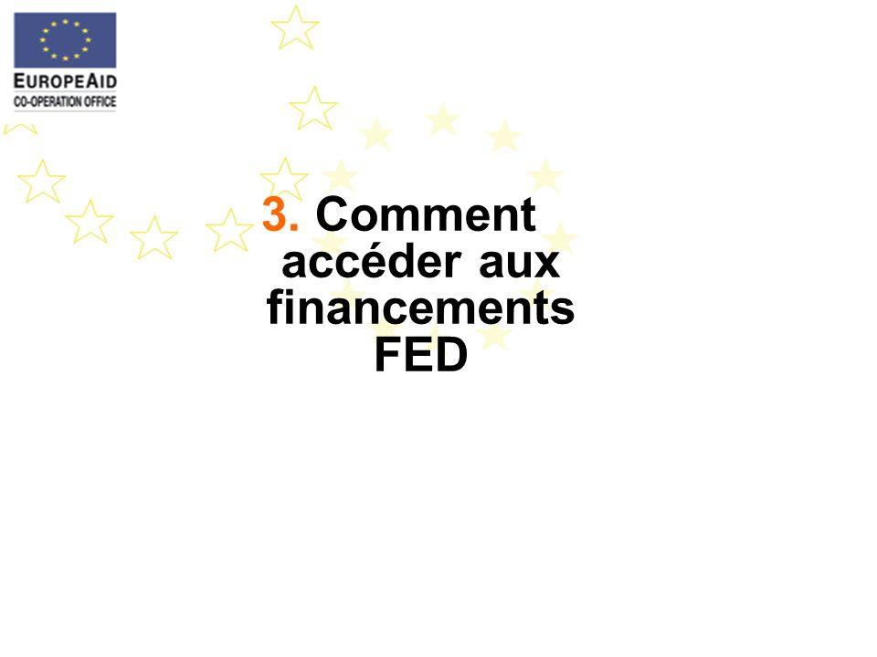 3. Comment accéder aux financements FED