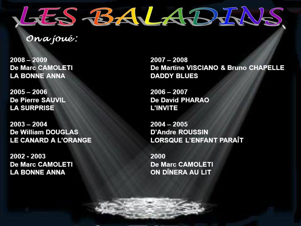 La tournée 2008 – 2009 : LA BONNE ANNA De Marc CAMOLETI Bernard a une très belle situation dans l'électronique, quant à Jacqueline, sa femme, elle cou