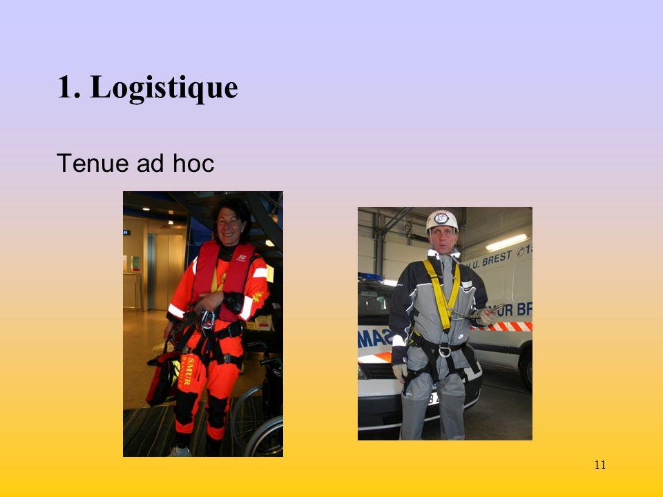 11 1. Logistique Tenue ad hoc