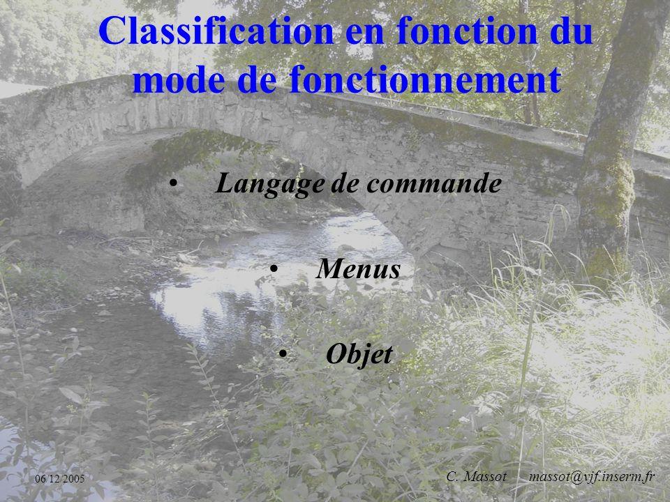 06/12/2005 C. Massot massot@vjf.inserm.fr Plusieurs centaines de logiciels disponibles