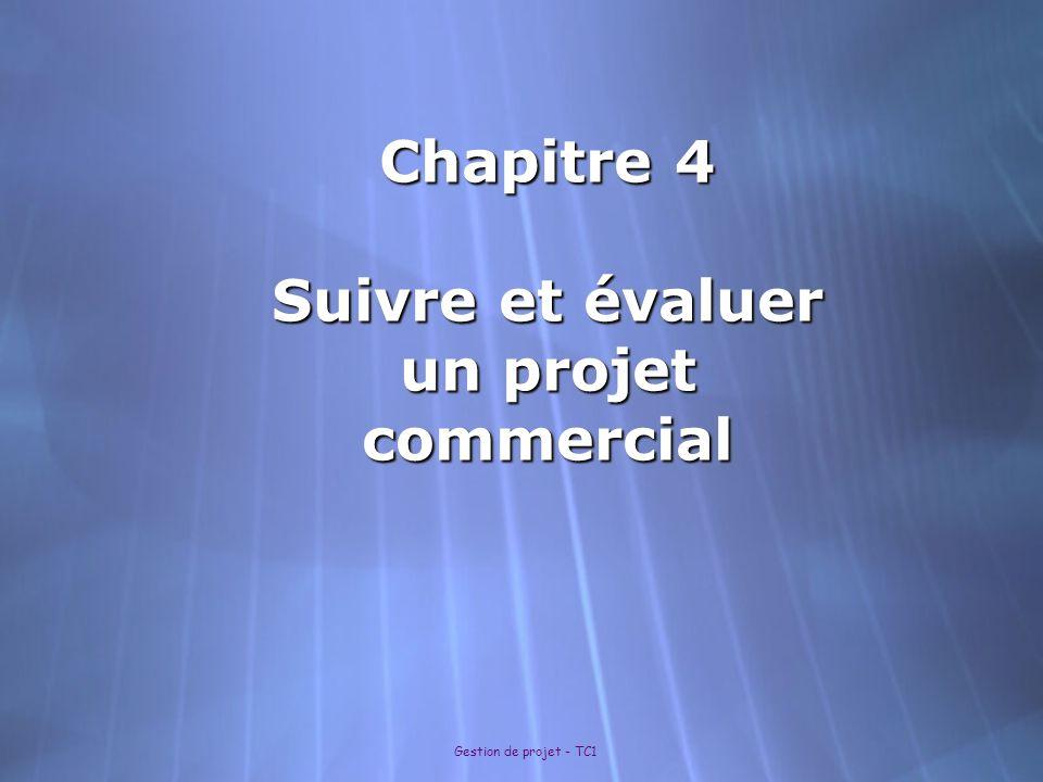 Gestion de projet - TC1 Chapitre 4 : 4.1 Le suivi dun projet 4.2 Faire le bilan dun projet