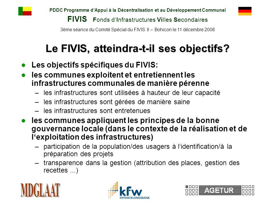PDDC Programme dAppui à la Décentralisation et au Développement Communal FIVIS Fonds dInfrastructures Villes Secondaires 3ème séance du Comité Spécial du FIVIS II – Bohicon le 11 décembre 2008 Le FIVIS, atteindra-t-il ses objectifs.