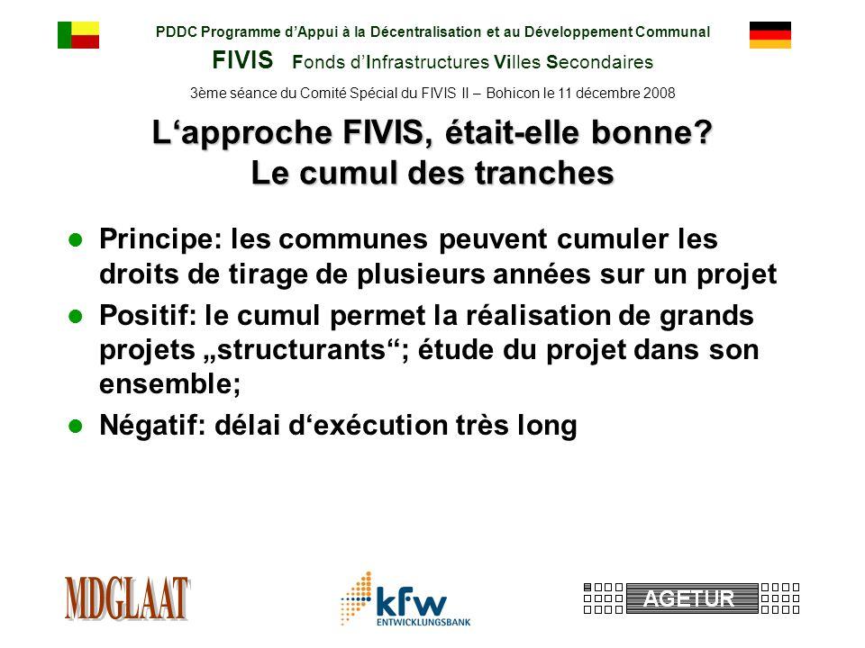 PDDC Programme dAppui à la Décentralisation et au Développement Communal FIVIS Fonds dInfrastructures Villes Secondaires 3ème séance du Comité Spécial du FIVIS II – Bohicon le 11 décembre 2008 Lapproche FIVIS, était-elle bonne.