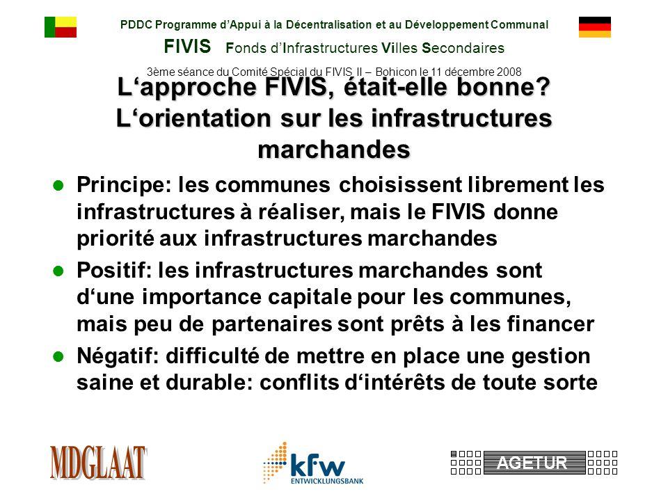 PDDC Programme dAppui à la Décentralisation et au Développement Communal FIVIS Fonds dInfrastructures Villes Secondaires 3ème séance du Comité Spécial