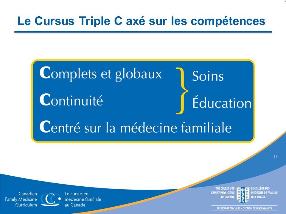 Le Cursus Triple C axé sur les compétences 16