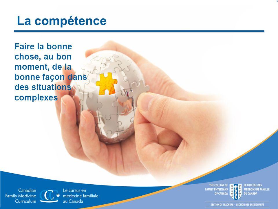 La compétence Faire la bonne chose, au bon moment, de la bonne façon dans des situations complexes