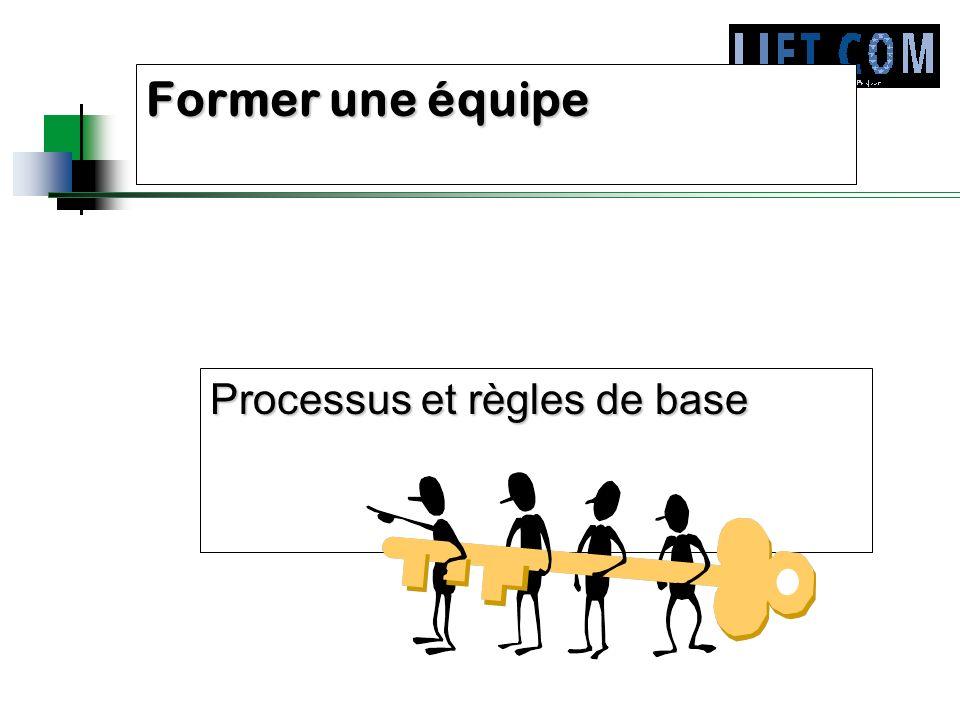 Former une équipe Processus et règles de base
