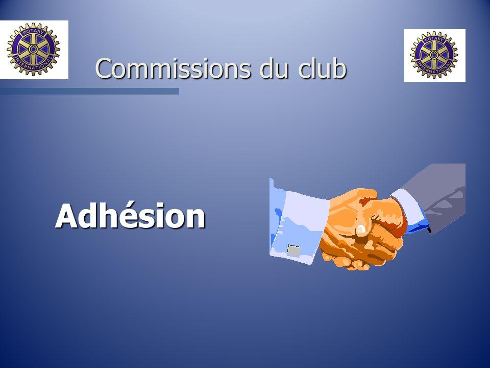 Adhésion Commissions du club
