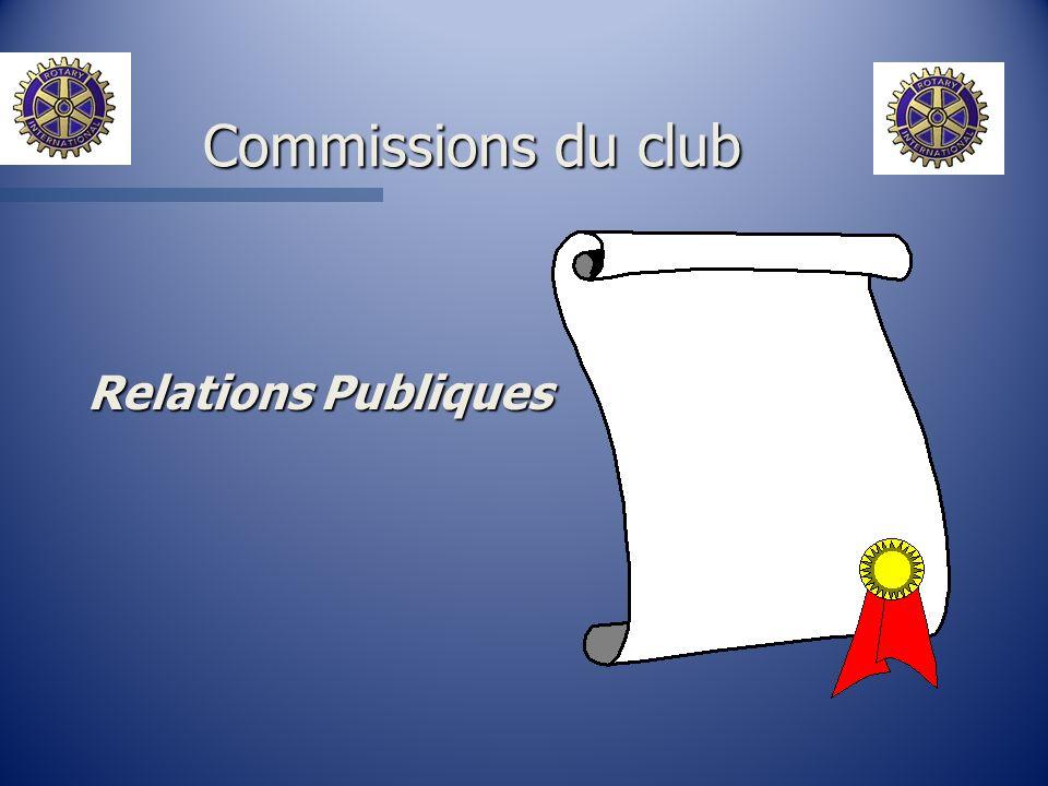 Relations Publiques Commissions du club