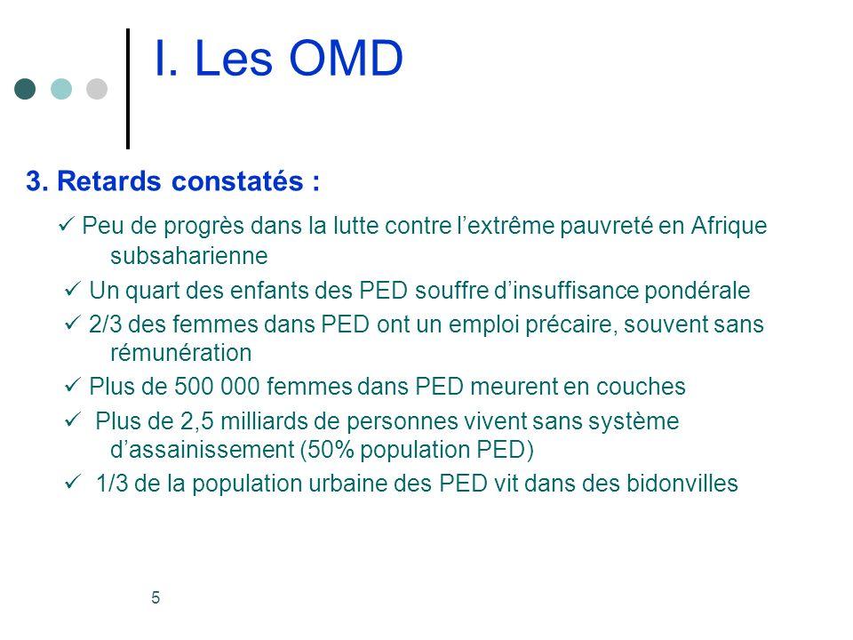 5 I. Les OMD 3.