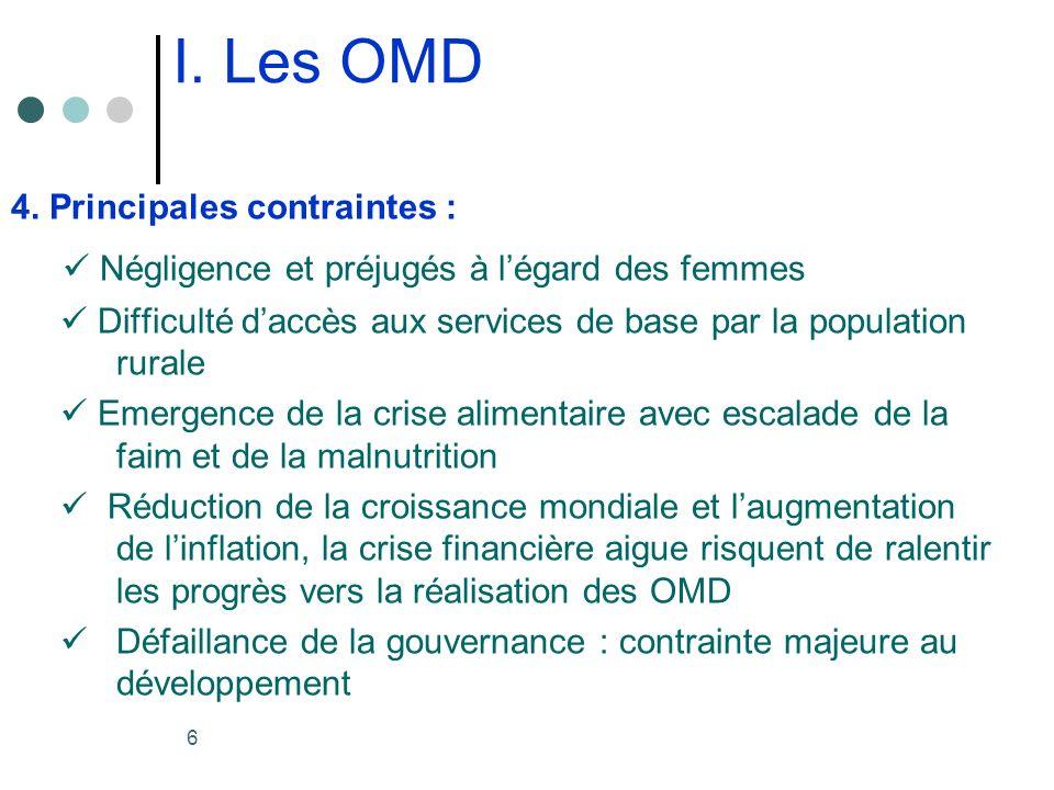 6 I. Les OMD 4.