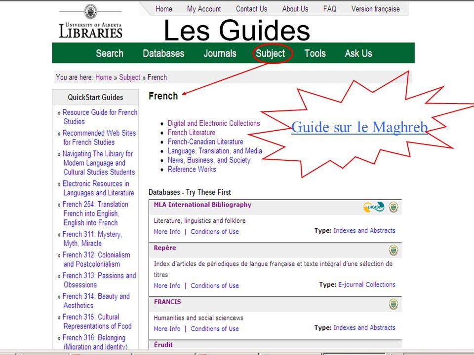 Les Guides Guide sur le Maghreb