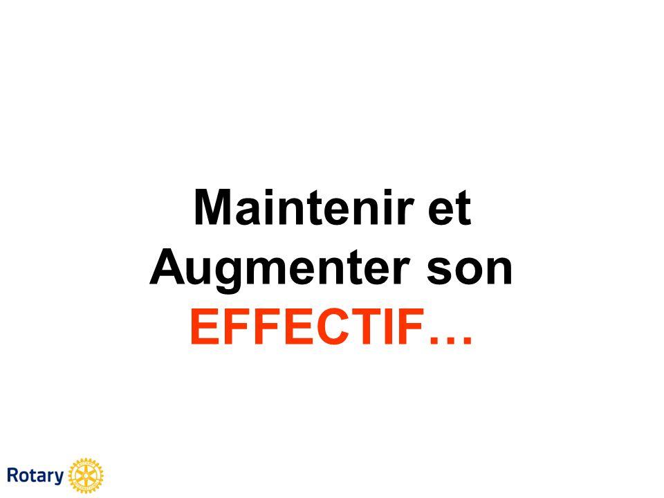Maintenir et Augmenter son EFFECTIF…