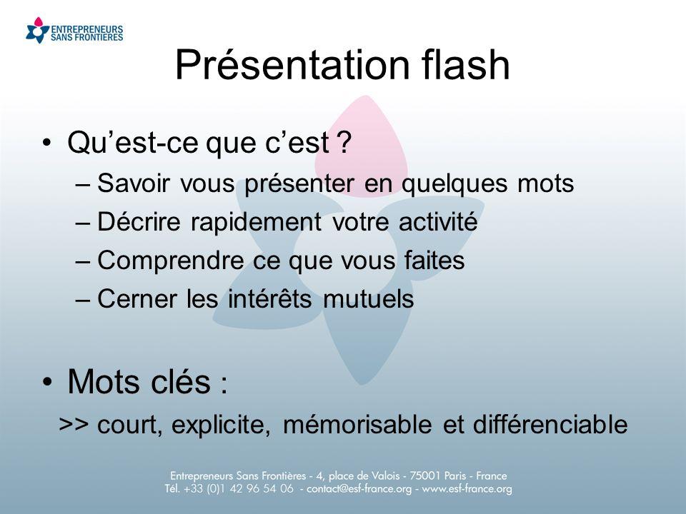 Présentation flash Quest-ce que cest .