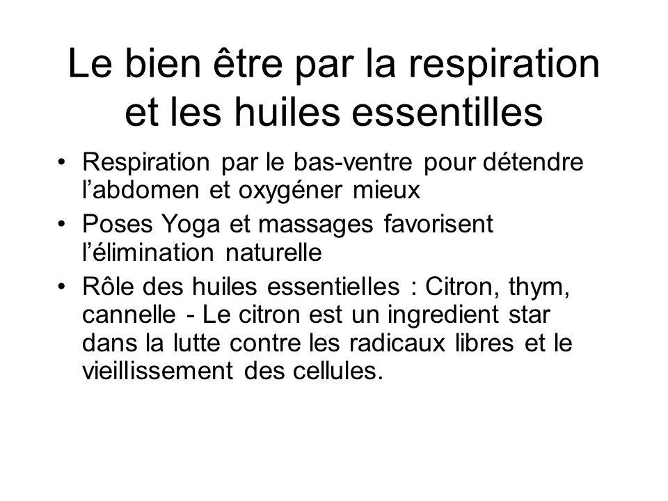 Le bien être par la respiration et les huiles essentilles Respiration par le bas-ventre pour détendre labdomen et oxygéner mieux Poses Yoga et massage