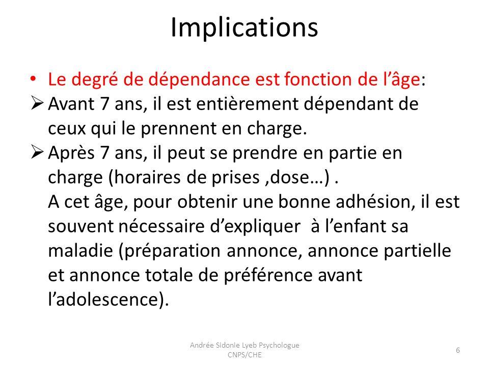 Facteurs de non observance 7 Andrée Sidonie Lyeb Psychologue CNPS/CHE