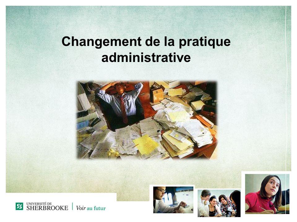 Changement de la pratique administrative
