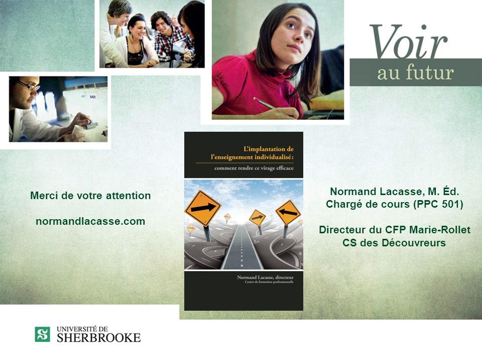 Merci de votre attention normandlacasse.com Normand Lacasse, M.