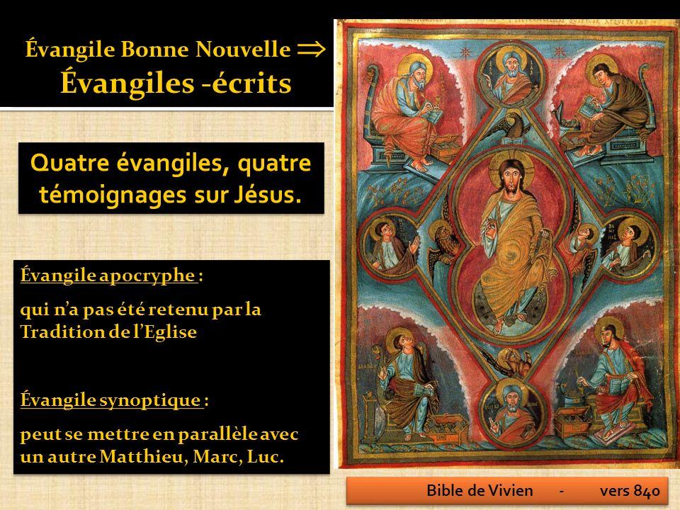 Les évangiles ne sont pas des reportages.