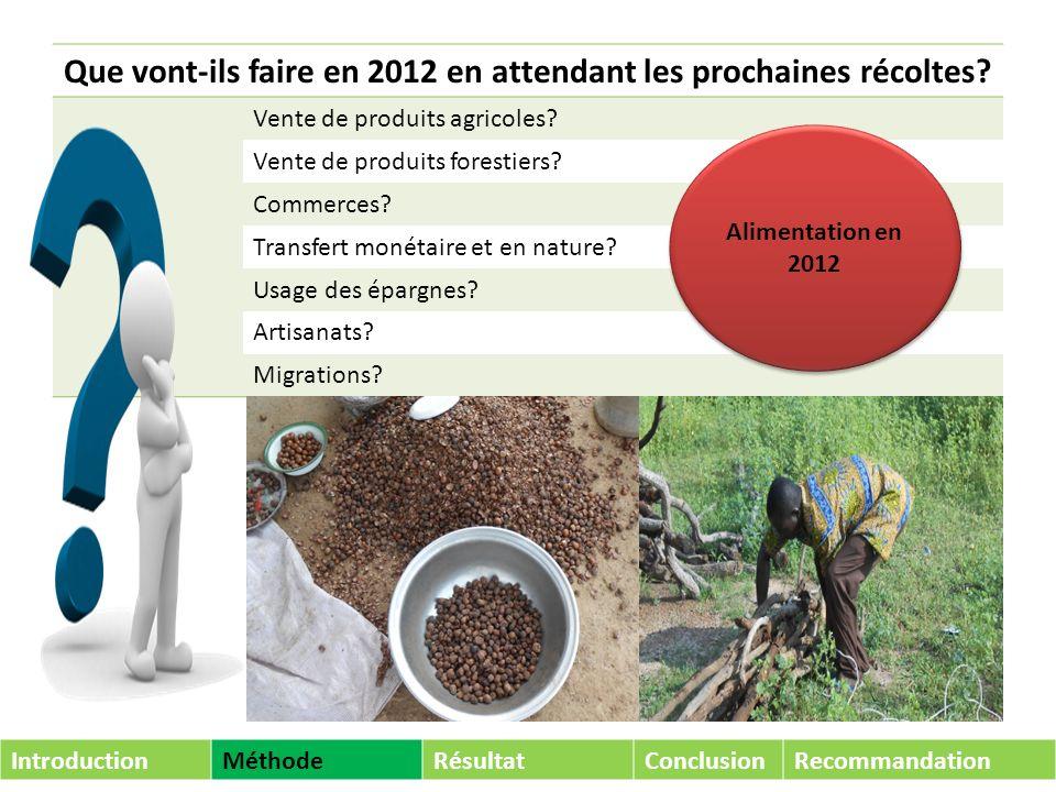 Que vont-ils faire en 2012 en attendant les prochaines récoltes.