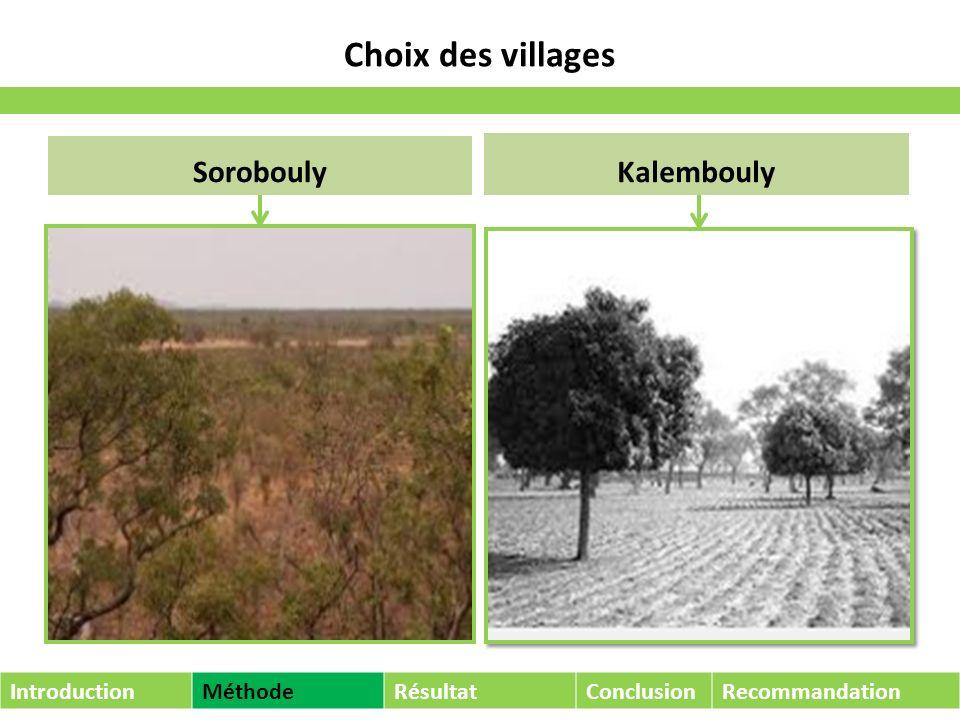Alimentation de la population IntroductionMéthodeRésultatConclusionRecommandation Wo, Vion, Sompo, Boumbiedggo, Tieko, Fomou..