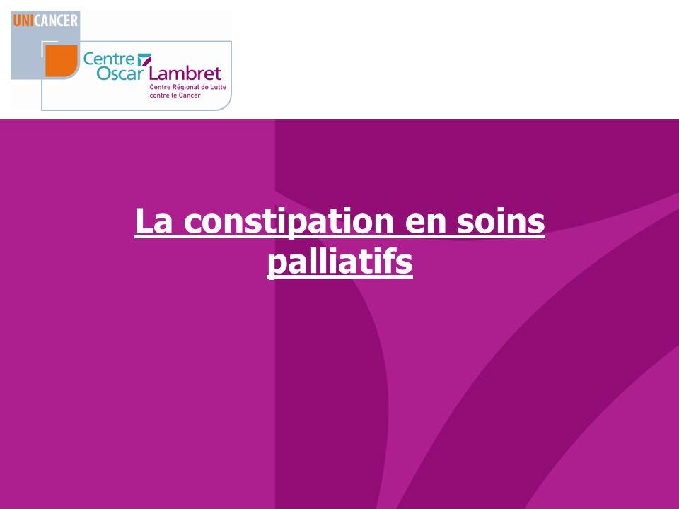 La constipation en soins palliatifs