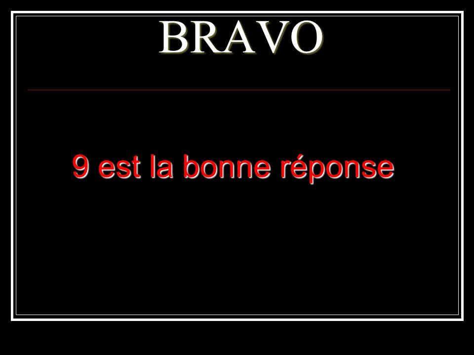 BRAVO 9 est la bonne réponse