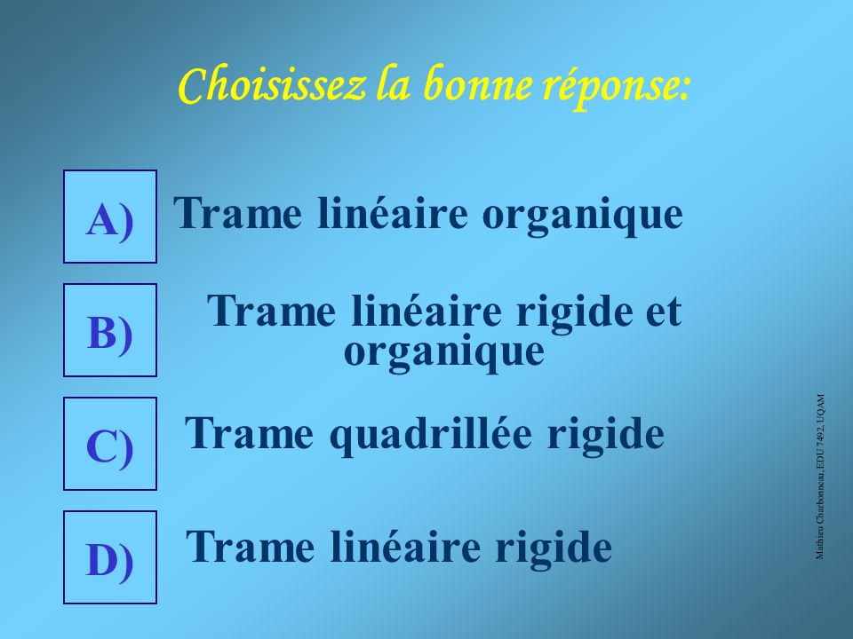 Mathieu Charbonneau, EDU 7492, UQAM 2) Ville de Grande Prairie (Alb.)