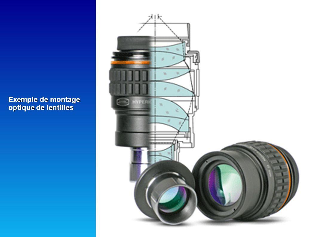 TYPES D OCULAIRES: - Kellener : oculaire de qualité médiocre offrant un champ très court (30°) et de mauvaise qualité optique.Cependant,ils sont légés et à des prix très abordables.