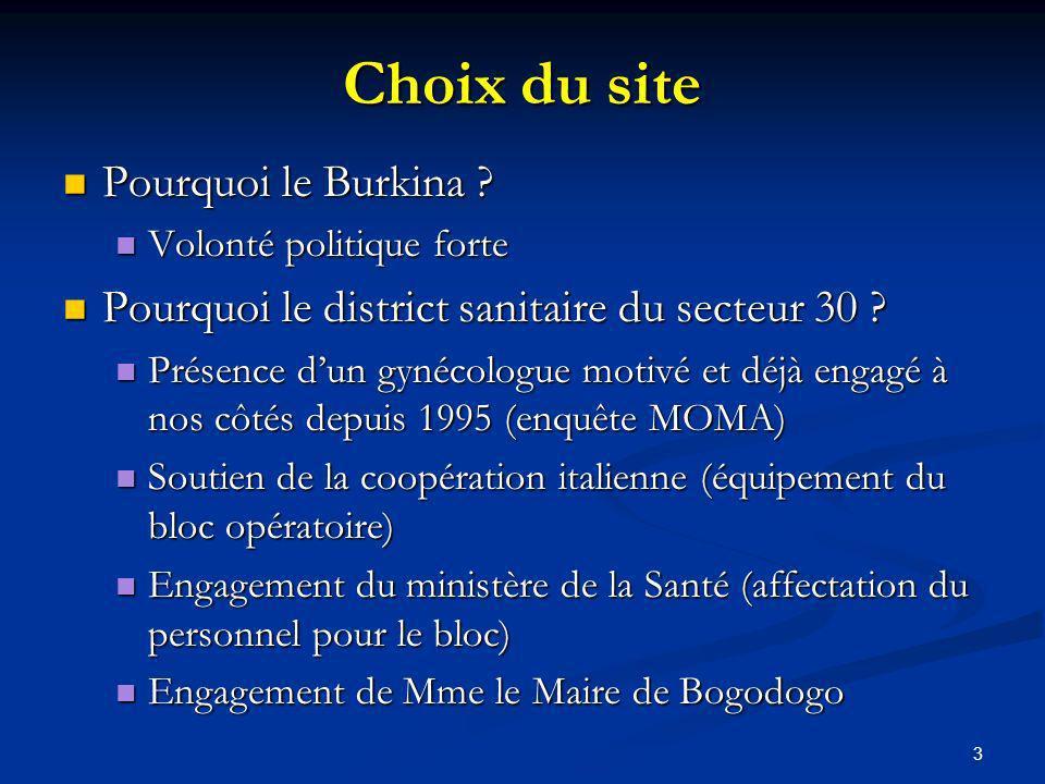3 Choix du site Pourquoi le Burkina .Pourquoi le Burkina .