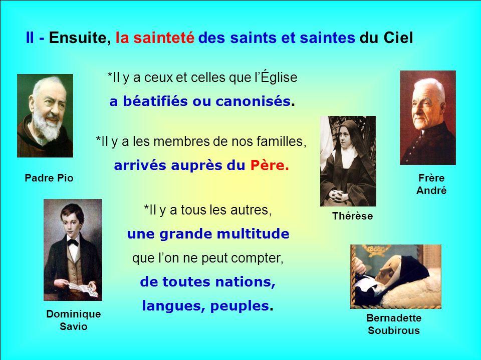 .. I - Dabord, la sainteté de Dieu, Trois fois saint.