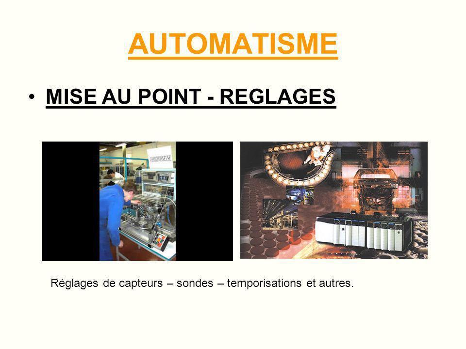 AUTOMATISME ETUDES - PROGRAMMES Conception de programmes suivant cahier des charges et besoins du client
