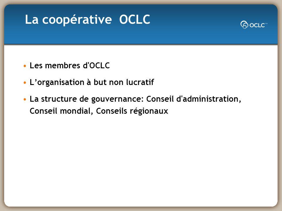 Définies dans le document de 1996 du Conseil des membres: «Principes de coopération» (en cours de mise à jour par Conseil mondial) «Nous sommes dans le même bateau » Contribuer Coopérer Assurer la viabilité de WorldCat et des services connexes Diffuser les principes de la coopération à d autres Quelles sont les normes communautaires dOCLC?