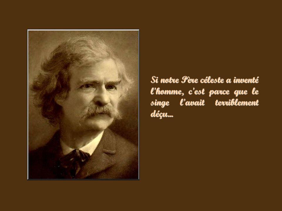 Ce diaporama présente une collection de photographies de Mark Twain, accompagnées de quelques uns de ses mots d esprit les plus célèbres.