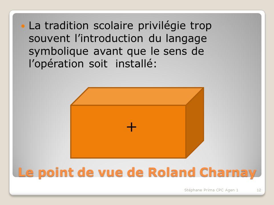 Le point de vue de Roland Charnay La tradition scolaire privilégie trop souvent lintroduction du langage symbolique avant que le sens de lopération so