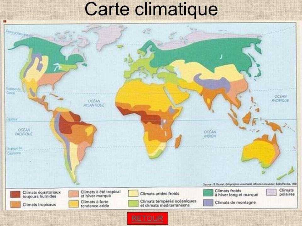 Carte climatique RETOUR